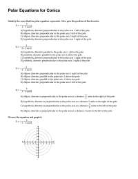 Polar Equation Conics - Calculus - Exercise