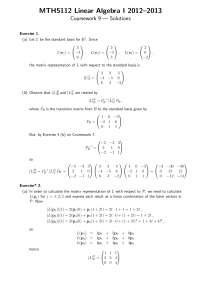 Linear Transformation - Linear Algebra - Solved Exercise