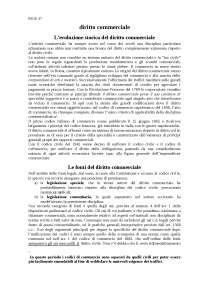 Diritto commerciale - Appunti - Diritto commerciale