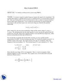 Mixer Circuits - Telecommunications - Lab Manual