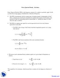 Power Spectral Density - Telecommunications - Lab Manual