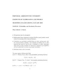Joint Probability - Probability and Stochastic Processes - Exam