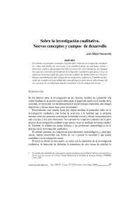 Sobre la investigación cualitativa - Nuevos campos - Apuntes - Investigación