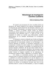 Metodo de investigación científica cualitativa - Quintana - Apuntes - Investigación