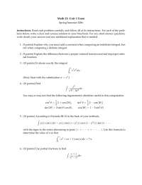 Proper Rational Function - Calculus of a Single Variable Two - Exam