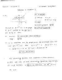 Domain and Range - Calculus of a Single Variable One - Solved Exam