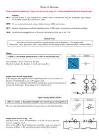 Electronics - General Physics - Lecture Notes