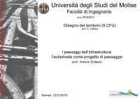 Infrastrutture - slides - Lezioni di disegno del territorio - Urbanistica