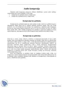 AUDIO KOMPRESIJA-Seminarski rad-Multimedija-Elektrotehnika