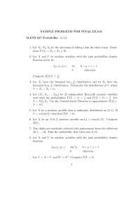Binomial - Probability - Exam