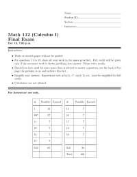 Linearization - Calculus - Exam