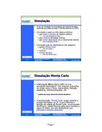 Simulação Monte Carlo CAP 2, Notas de estudo de Engenharia Informática