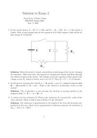 Final Charge in Coulombs - Physics with Calculus - Solved Exam