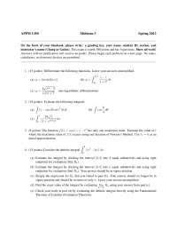 Logarithmic - Calculus One for Engineers - Exam