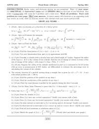 Linearization - Calculus One for Engineers - Exam