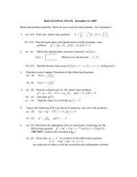 Eigen Functions - Differential Equations - Exam