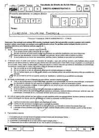 Bens Públicos - prova - Direito Administrativo