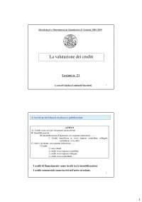 La valutazione dei crediti - Stocchetti - Slides - Analisi di bilancio e principi contabili