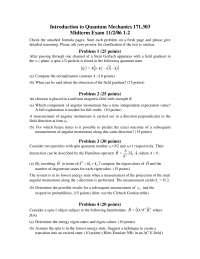 Normalization Constant - Quantum Mechanics - Exam