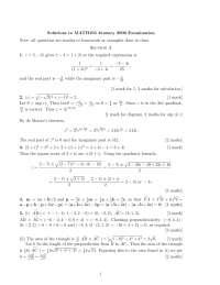 Quadratic Formula - Mathematics - Solved Exam