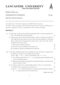 Likelihood - Bayesian Inference - Exam