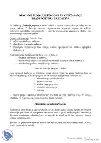Osnovne funkcije pogona - Skripte - Saobracajni fakultet