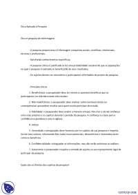 Ética aplicada à pesquisa - Apostilas - Enfermagem