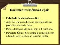 Documentos Medico-Legais - slides - Medicina Legal parte 2