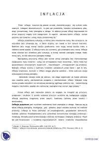 Pojęcie inflacji - Notatki -  Makroekonomia, Notatki'z Makroekonomia