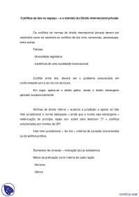 Conflitos Lei no Espaco - notas - Direito Internacional