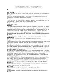 Glossarioda Obra, Notas de estudo de Engenharia Civil