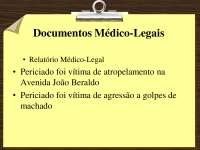 Documentos Medico-Legais - slides - Medicina Legal parte 3