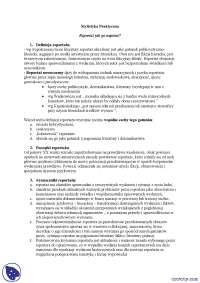 Reportaz jak go napisać- Notatki - Stylistyka praktyczna