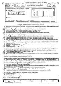 Contribuinte - prova - Previdenciario