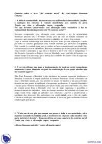 Rousseau - trabalho - Filosofia