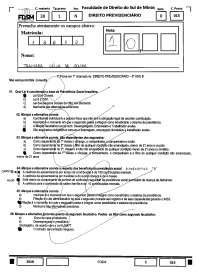 Leis - prova - Previdenciário