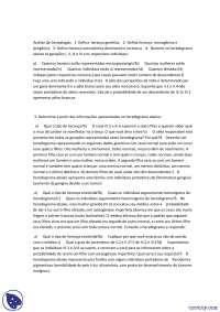 Análise de Genealogias - Exercicio - Biologia