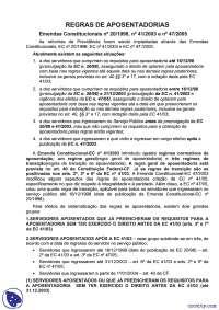 Leis sobre Aposentadoria - anotações - Direito Previdenciario