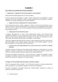 Riassunto Silvestrelli - Il Vantaggio Competitivo nella Produzione Industriale