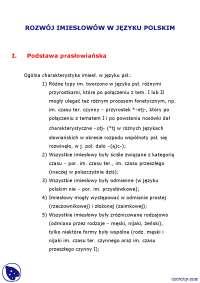 Imiesłowy - Notatki - Gramatyka historyczna