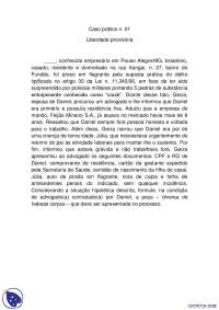 Liberdade provisoria - apostilas - Pratica Penal