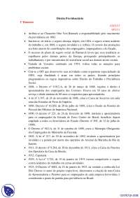 Aposentadoria - notas - Direito Previdenciario parte 1