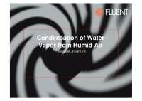 condensation from humid air in fluent