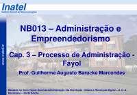 NB013 Cap 3 Fayol A2013 S1, Notas de estudo de Engenharia Informática