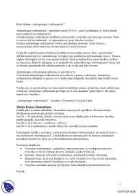 Antropologia codzienności - Notatki - Antropologia kulturowa