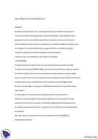 Impactos das construções no Meio-Ambiente - Apostilas - Engenharia Civil, Notas de estudo de Engenharia Civil
