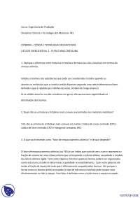 Estruturas Cristalinas - Exercicios - Engenharia de Produção