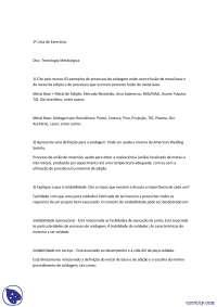 Solda Metalúrgica - Exercicios - Engenharia Metalurgica - UFPR