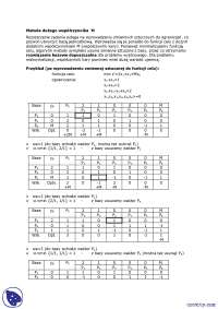 Metoda dużego współczynnika M - Notatki - Badania operacyjne