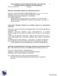 Direitos Difusos - apostilas - Direito Difuso e Coletivo, Notas de estudo de Direito Difuso e Coletivo